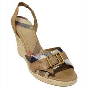 Burberry Nova Check Espadrille Sandals 👡 🇮🇹
